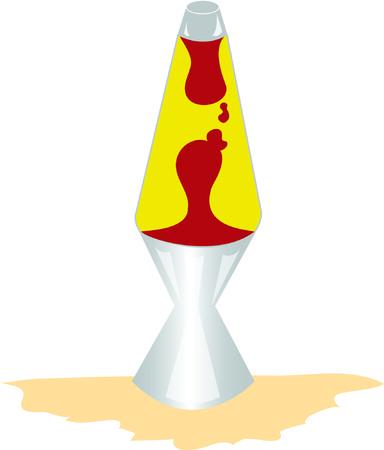 Krijg groovy met een lavalamp. Stockfoto - 41520331