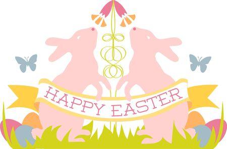 glorioso: podem todos os prazeres da temporada gloriosa ser seu escolher os projetos coloridos P�scoa crista do coelho por padr�es de bordado