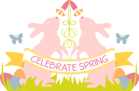 leveret: may all the enjoyments of the glorious season be yours pick those colorful Easter Bunny Crest designs by embroidery patterns