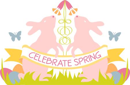 cottontail: pueden todos los goces de la temporada gloriosa ser tuyo recoger esos coloridos dise�os Pascua conejito cresta de patrones de bordado