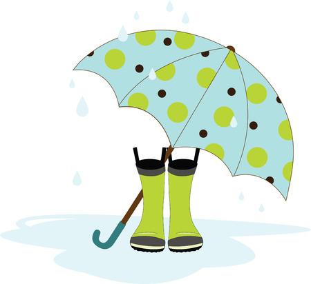 Es un buen día para tener un día de lluvia escuchar la música de la lluvia que cae Foto de archivo - 41520367