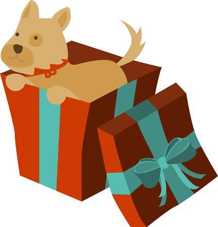 Cucciolo di Natale è il dono perfetto per i vostri cari Archivio Fotografico - 41520374