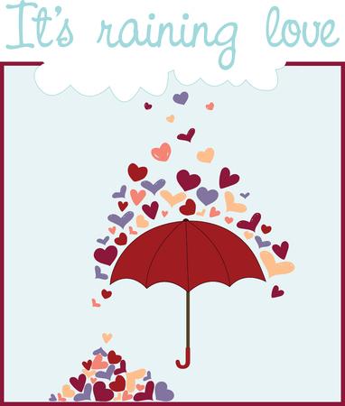 Rainy Hearts hace que cada cosa hermosa Foto de archivo - 41520398