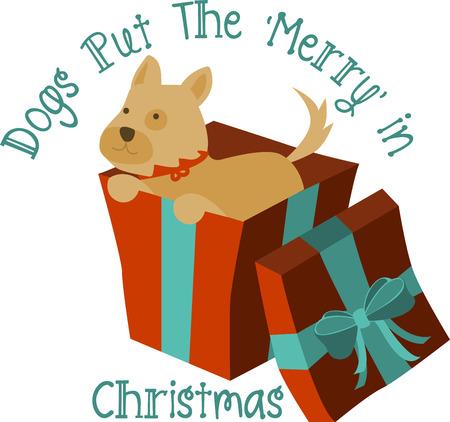 Cucciolo di Natale è il dono perfetto per i vostri cari Archivio Fotografico - 44112311