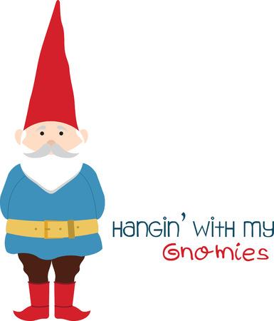 Zodra je gaat gnome je nooit naar huis gaan. Pak die ontwerp van borduurpatronen.