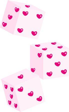 st valentine  s day: Love dice