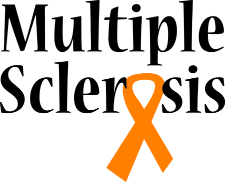 ms: Display your support for a cure for a terrible disease. Illustration