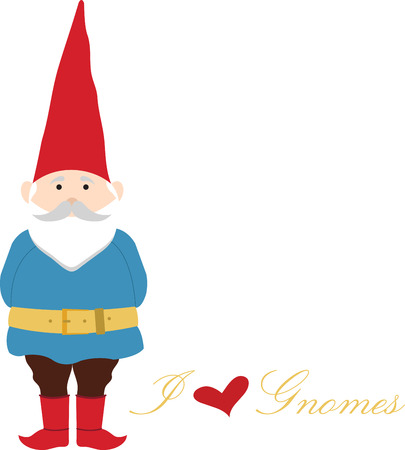 gnomes: Once you go gnome you never go home. Pick those design by embroidery patterns. Illustration
