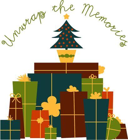 このクリスマス プレゼントとスイートプロ モーションあなたの休日します。  イラスト・ベクター素材