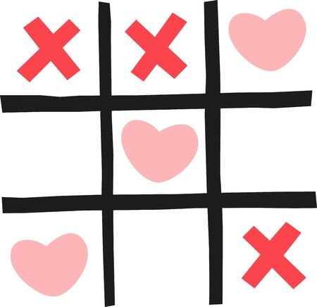 It will be fun to make this tictactoe Valentine craft out of popsicle sticks. You can play this game at any Valentine party.