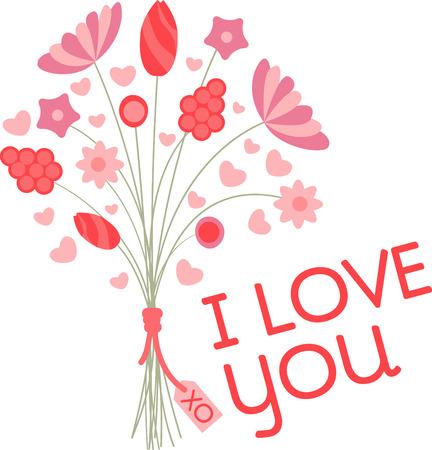 완벽한 발렌틴 부케이 발렌타인 데이 우리는 모든 여자 마음에 똑바로 말하는 꽃을 선택하는 로맨스 요소를 연주하고 있습니다. 일러스트
