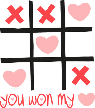 It will be fun to make this tictactoe Valentine craft out of sticks. You can play this game at any Valentine party. 向量圖像