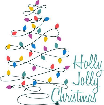 번쩍이는 불빛과 함께 크리스마스 트리를 장식하는 것은 전체 크리스마스 축하의 아름다운 부분입니다