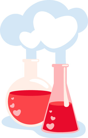 saint valentine s day: love potion the best thing to hold onto in life is each other.with this design by embroidery patterns Illustration
