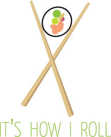 초밥은 즐거운 환경과 자신 만의 맛있는 일본 음식을 제공합니다. 친구와 가족을 불러 모으고 가족 성장에 동참하십시오. 일러스트