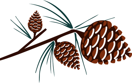 pine cone: Decorating your home with these Christmas pine cone crafts design by embroidery patterns.