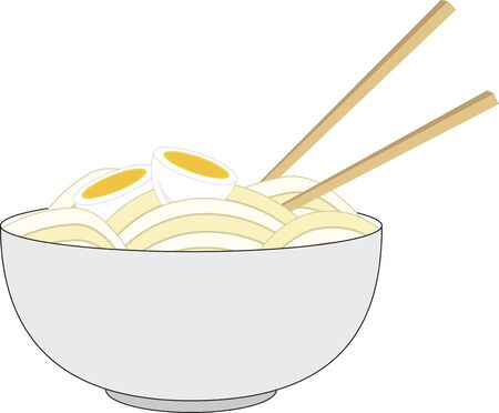 Food Lover Spice up your lunch or dinner with tempting Asian cuisine. Ilustrace