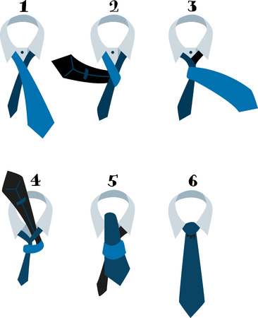 ascot: This easy howto with clear illustrations and simple directions makes tying a tie easy.