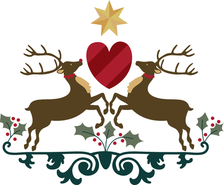 white tail deer: get this cute colorful reindeer crest design by embroidery patterns.