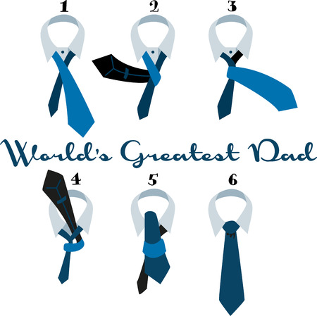This easy howto with clear illustrations and simple directions makes tying a tie easy.