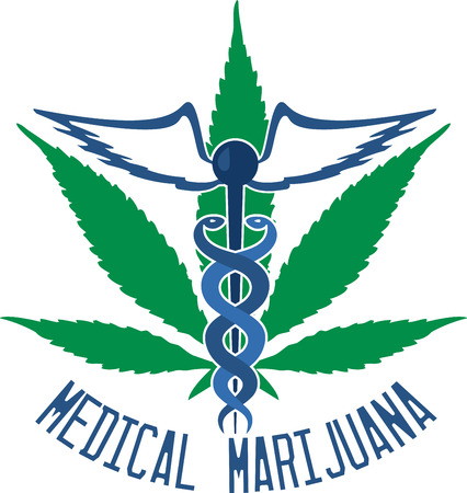 cannabis sativa: Marijuana is a green brown or gray mix of dried crumbled leaves from the marijuana plant with design by embroidery patterns. Illustration