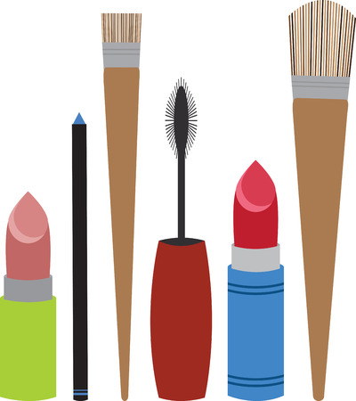 Look Every Bit of a Diva by Flaunting these Make up tools all over your collectables. Illustration