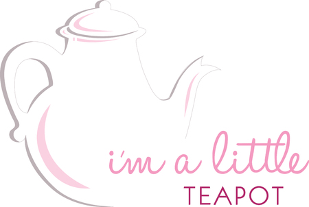 Tea pots make the difference between good and great tea. Enjoy a great cup with tea kettles and ceramic teapots with this design by embroidery patterns. Ilustrace