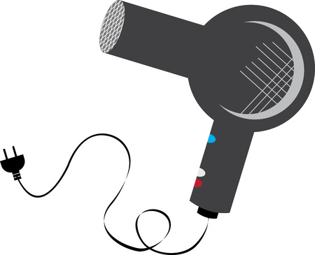 hairdryer: Dry your hair with ease without damaging them with this Hair Dryer designed by Embroidery patterns Illustration