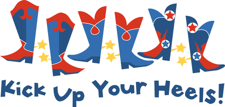star spangled: Express your patriotic pride with some star spangled shoes Let freedom ring in patriotic pick those design by embroidery patterns. Illustration