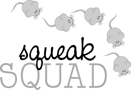 очаровательный: Украсьте ваши аксессуары с curiouscute и очаровательной мышки Иллюстрация
