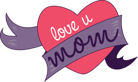 Keep clam because I love you with my whole heart mom