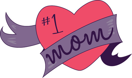 riband: Keep clam because I love you with my whole heart mom