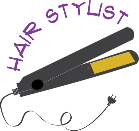 flat iron: Straight hair is remarkably quick and easy to get using a flat iron styling tool in the comfort of your home. Illustration
