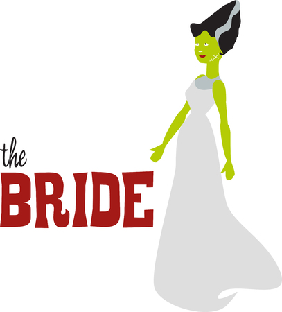 Bride of Frankenstein costume is a perfect costume for the celebration of spooky Halloween party.