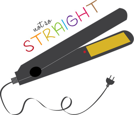 Straight hair is remarkably quick and easy to get using a flat iron styling tool in the comfort of your home. Ilustração