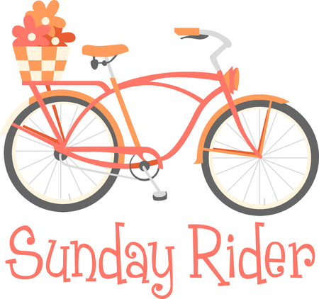 Bring some style to your cycling with this classic Cruiser bike designed by Embroidery patterns