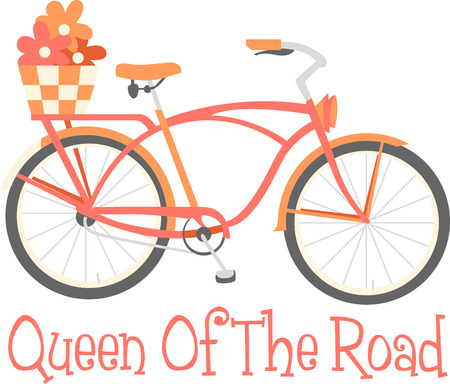 cruiser bike: Bring some style to your cycling with this classic Cruiser bike designed by Embroidery patterns
