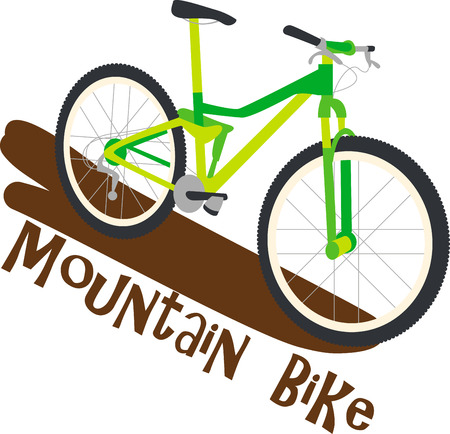 Enjoy an exhilarating mountain bike ride through the Green Mountain with this design by Embroidery patterns