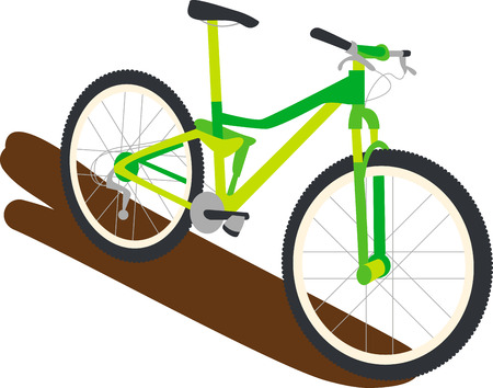 bycicle: Enjoy an exhilarating mountain bike ride through the Green Mountain with this design by Embroidery patterns