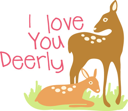 deer spirit is gentle silent sensitive and graceful collect the beautiful deer with doe design by embroidery patterns. Banco de Imagens - 41551607