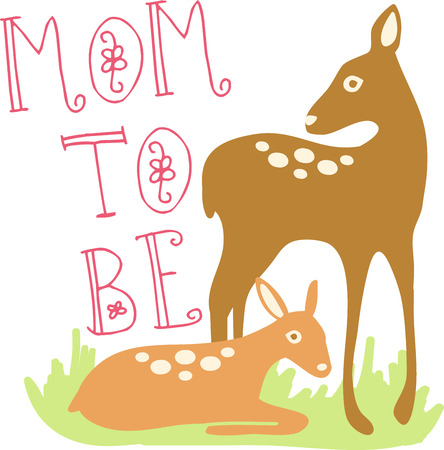 mother and baby deer: deer spirit is gentle silent sensitive and graceful collect the beautiful deer with doe design by embroidery patterns.