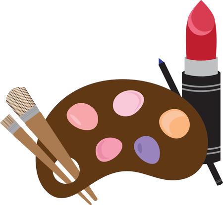 make up brush: Llevar a cabo el magn�fico USTED Flaunt estos Maquillaje dise�os de patrones de bordado. Un regalo perfecto para las damas