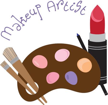 Apportez le magnifique VOUS Flaunt ces Make Up Designs de motifs de broderie. Un cadeau parfait pour les dames Vecteurs