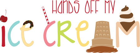 Life is like icecream enjoy it before it melts.with this design by embroidery patterns