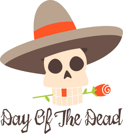 Celebrate the Dia de los Muertos in style Day of Dead. Have fun and get the celebration rolling Çizim