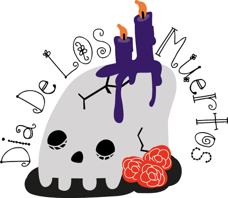 Best theme for Halloween party. Feel spooky with this design by Embroidery patterns Çizim