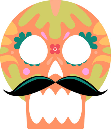 Discover the funky and freaky world of Day of the Dead art with this design by Embroidery patterns