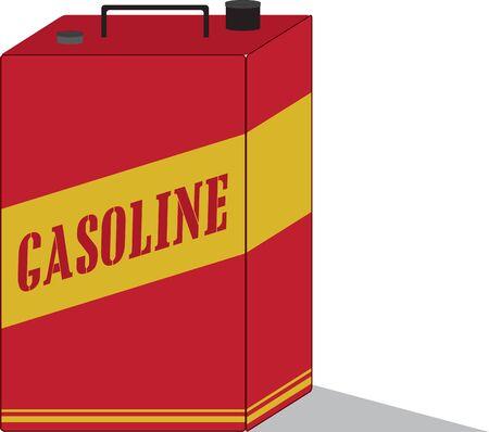 ガソリン缶は、緊急事態のための車のブート搬入に最適です。