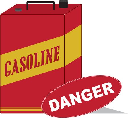 The Gasoline Can is ideal for carrying in your vehicle boot for an emergency. 免版税图像 - 41551675