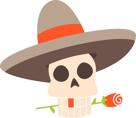dia de los muertos: Celebrate the Dia de los Muertos in style Day of Dead. Have fun and get the celebration rolling Illustration